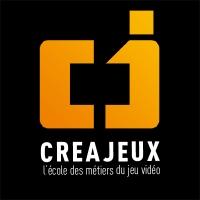Logo de la structure Creajeux, l'école des métiers du jeu vidéo