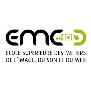 Logo de la structure EMC, Ecole Supérieure des Métiers de l'Image, du Son et de la création 3D